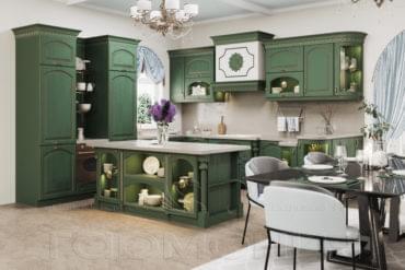 Кухни массив ясеня «Грация»